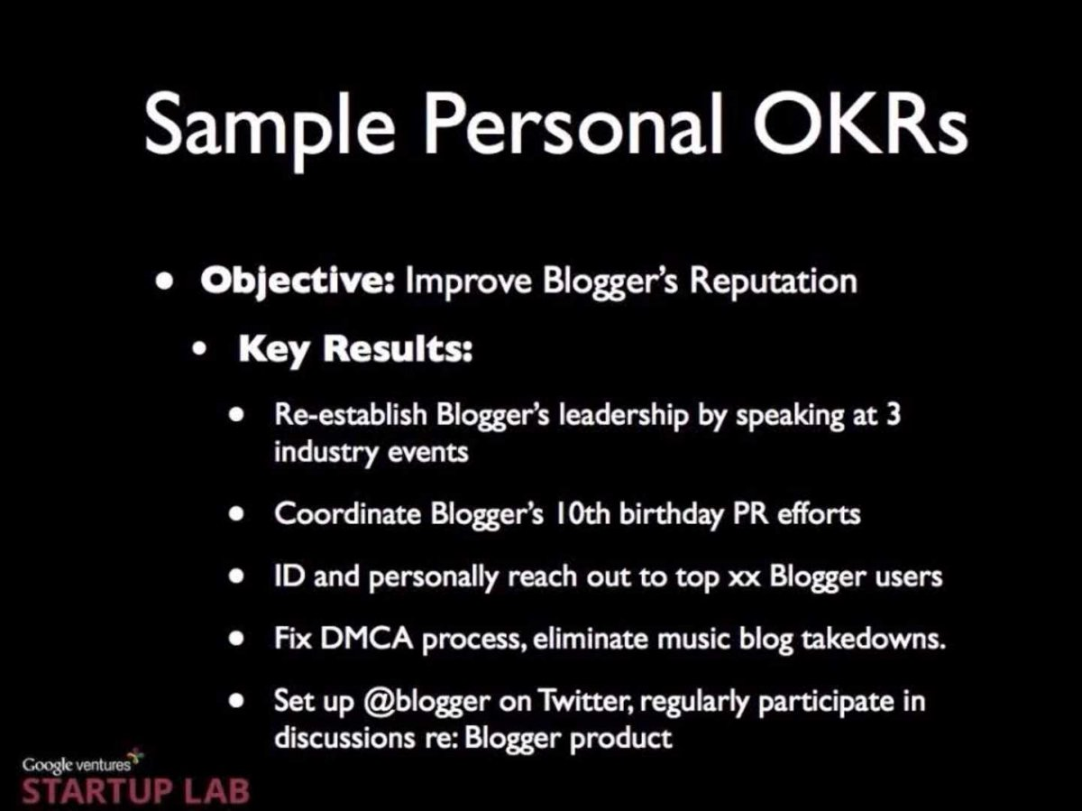Sample OKR